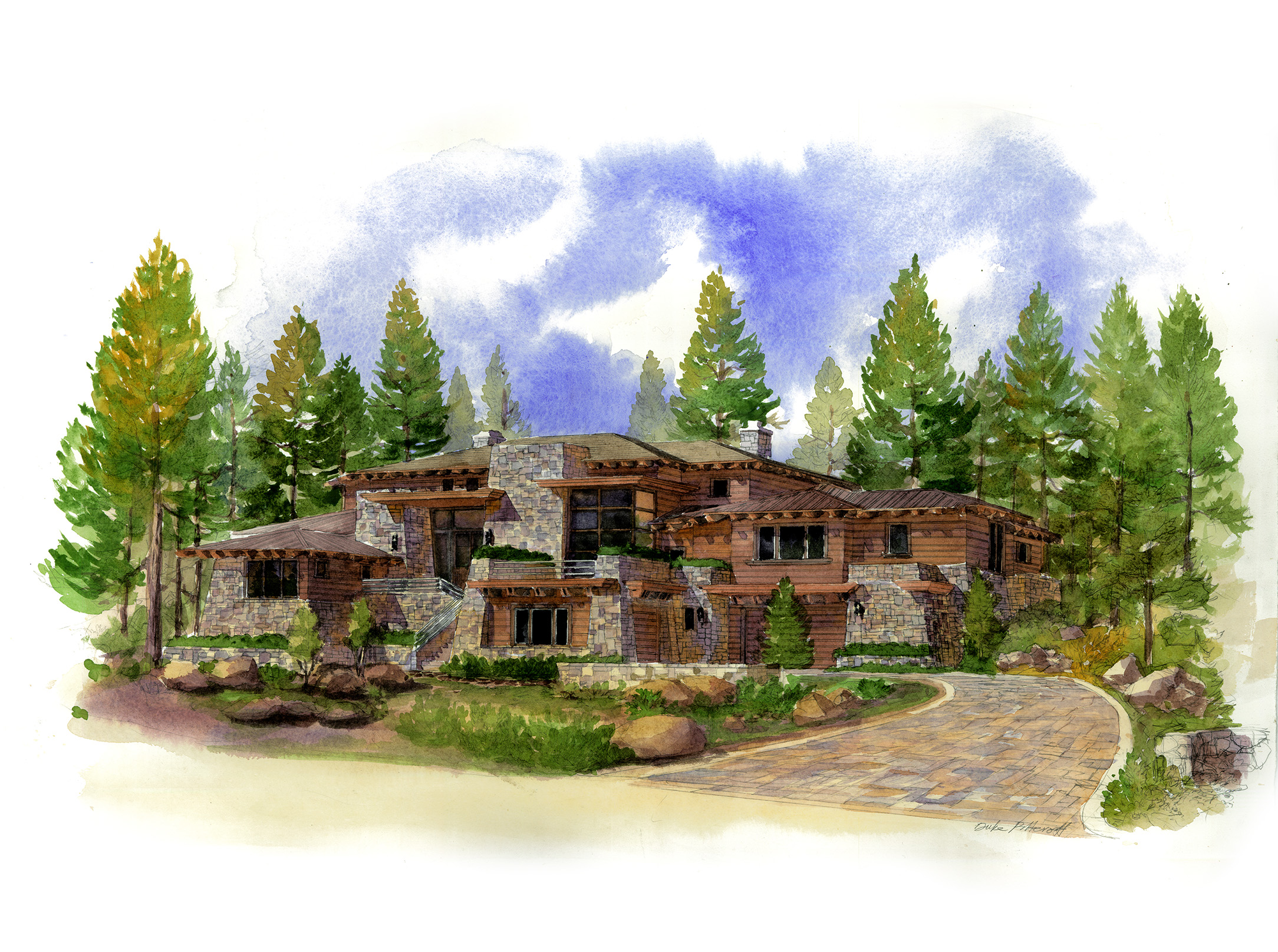 Contemporary Organic Architecture, Martis Camp, Lake Tahoe